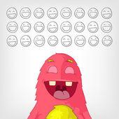 Funny Monster. — Stock Vector