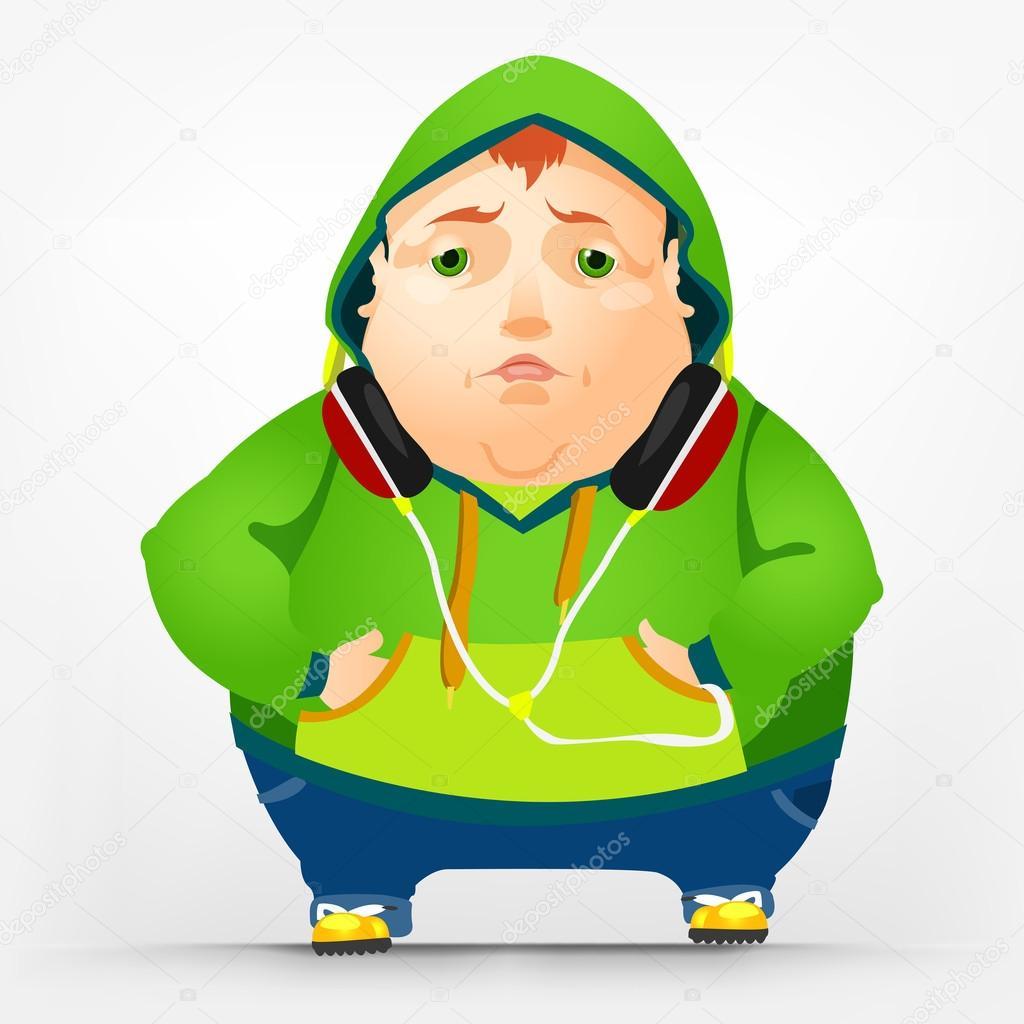 男生胖子高冷背影头像