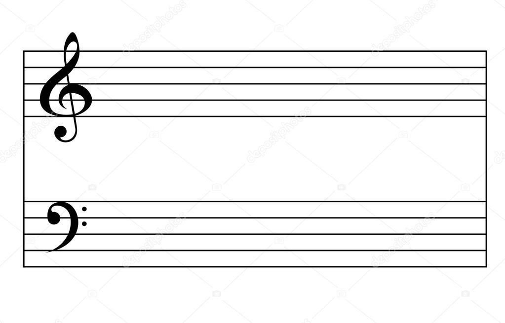 Ноты скрипичного ключа  muzteoretikru
