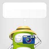 милый робот — Cтоковый вектор