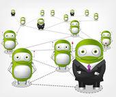 Green Robot — Stock Vector