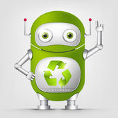 Green Robot — Stock Vector