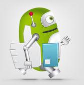 Robô verde — Vetor de Stock