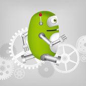 绿色机器人 — 图库矢量图片