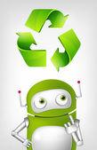 Grüne roboter — Stockvektor