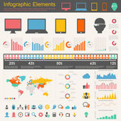 IT Industry Infographic Elements — Vector de stock