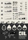 Olie-industrie infographic elementen — Stockvector