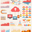 Stock Vector: cloud service infographic elements