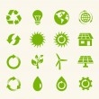 Eco Icon Set. — Stockvektor