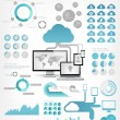 Cloud Service Infographic Elements — Imagen vectorial