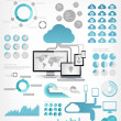 Cloud Service Infographic Elements — Stock Vector