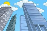 City Cartoon. — 图库矢量图片