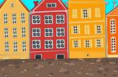 şehir karikatür. — Stok Vektör
