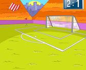 Fußballplatz — Stockvektor
