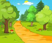 Forest Glade — Stock Vector