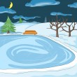 Outdoor Skating Rink — Stock Vector