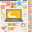 Stock Vector: IT Industry Infographic Elements