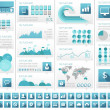 IT Industry Infographic Elements — Stock Vector