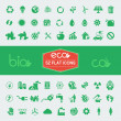 Ecology Flat Icon Set — Stock Vector