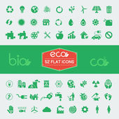 Ecology Flat Icon Set — Vector de stock