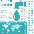 Water Conservation Infographic Template — Stock Vector