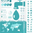 Water Conservation Infographic Template — Stock Vector #33855965