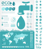 Water Conservation Infographic Template — Stockvektor