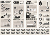 Olie-industrie infographic sjabloon — Stockvector