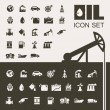 Oil Industry Flat Icon Set — Stock Vector