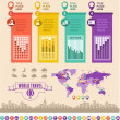 Travel Infographic Template. — Vettoriali Stock