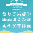 Travel Flat Icon Set — Stock Vector