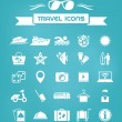 Travel Flat Icon Set — Stockvectorbeeld