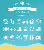 Travel Flat Icon Set — Stockvector