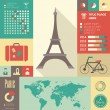Travel Infographic Template. — Grafika wektorowa