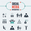 Social Media Infographic Template. — Vettoriale Stock  #37159293
