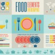 Food Infographic Template. — Stock Vector