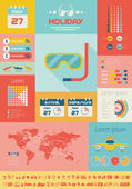 Travel Infographic Template. — Vettoriale Stock