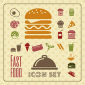Fastfood Infographic Template. — Stock Vector