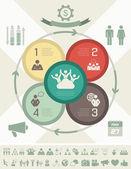 Sosyal medya infografik şablon. — Stok Vektör