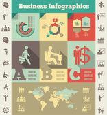Plantilla de negocio infografía. — Vector de stock