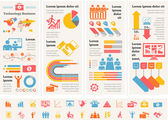 Business Infographic Template. — Vector de stock