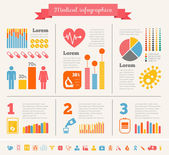 Medical Infographic Template. — Stock vektor
