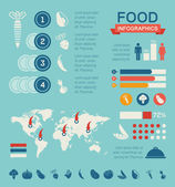 Food Infographic Template. — Vector de stock