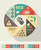 Sociale media infographic sjabloon. — Stockvector
