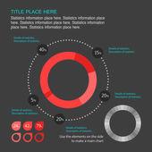 Elementi di infografica. — Vettoriale Stock