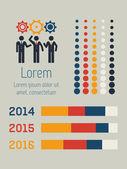 Les médias sociaux infographie. — Vecteur
