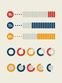 Social Media Infographic. — Stock Vector