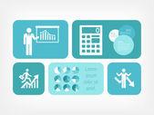 Infografía de los medios sociales. — Vector de stock