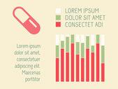 Infografía médica. — Vector de stock