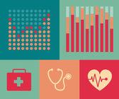 医疗信息图. — 图库矢量图片